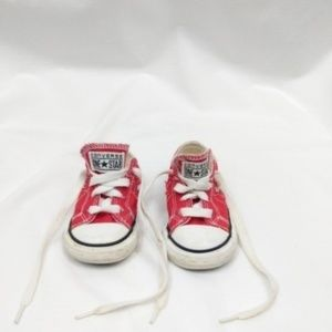 Converse Low Top Infant Red & White Sneakers 5